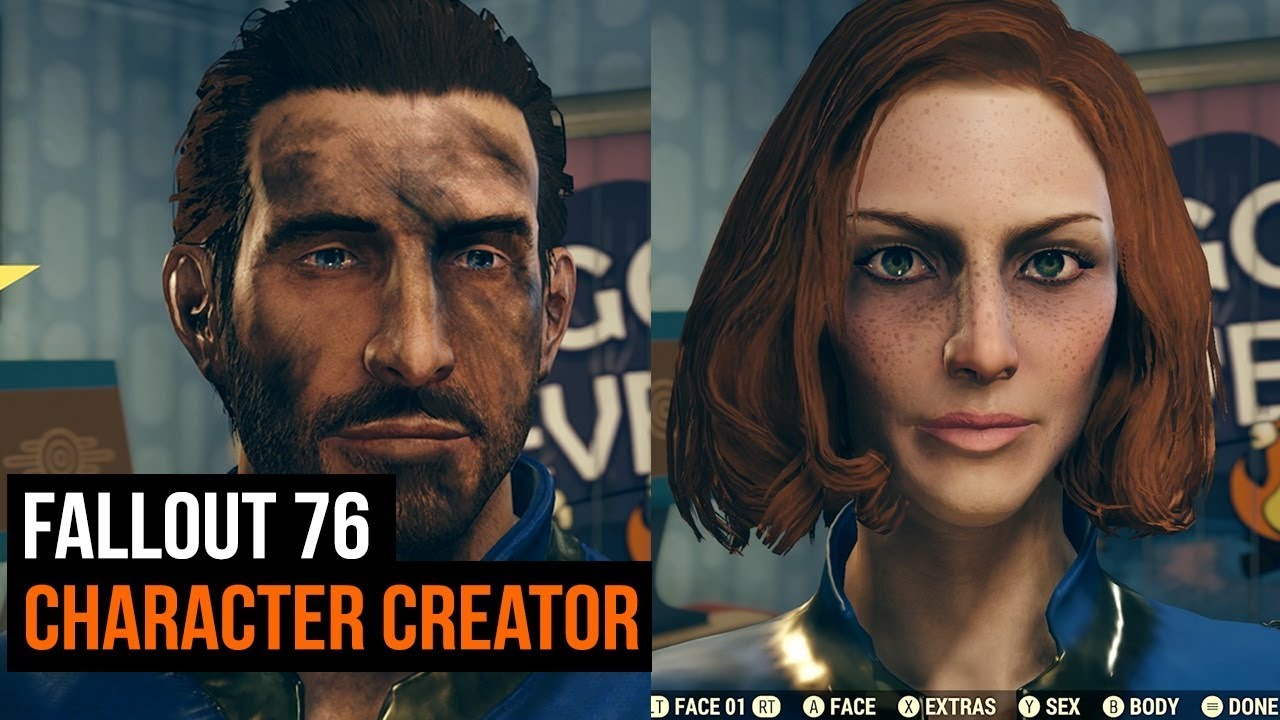 Fallout 76 - Character creator options