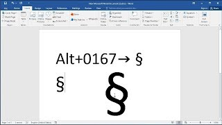 How to type the section sign (§) symbol: How to Create the Section Symbol (§) in Documents