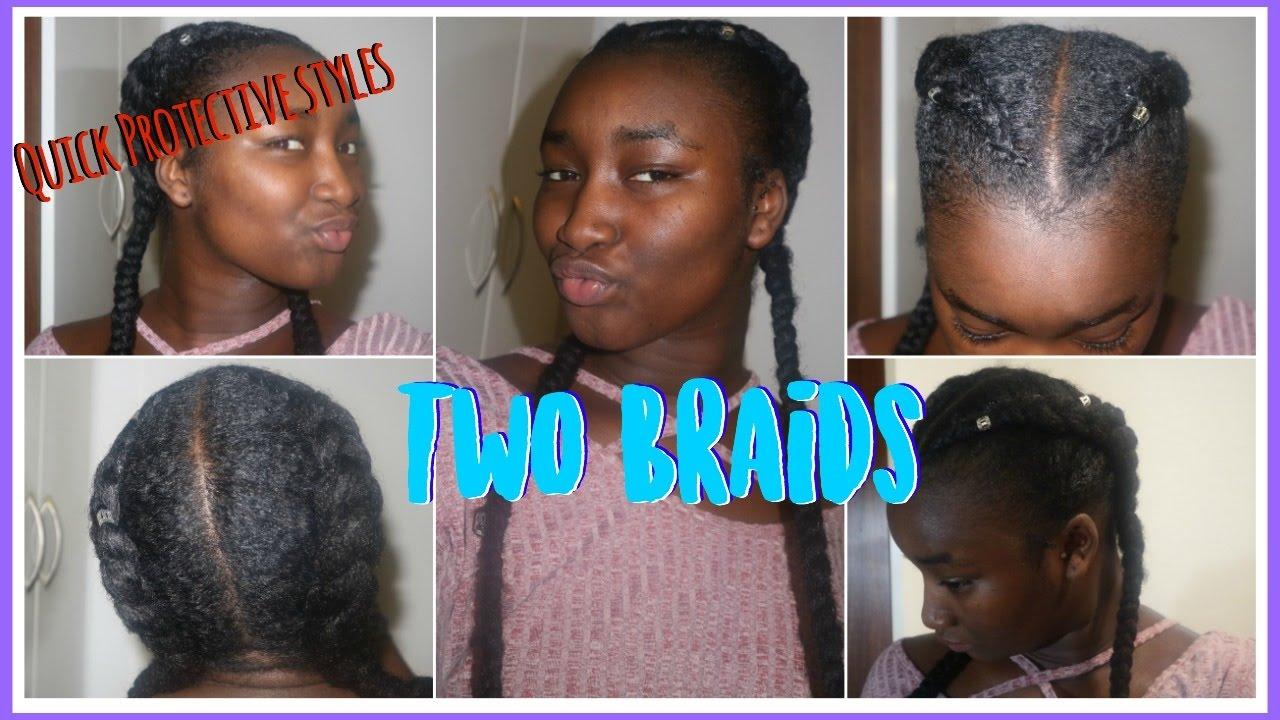 Two Braid Natural Hair Styles - Best Natural Hair 2018