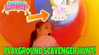 Squishy Scavenger Hunt At The Playground! Smooshy Mushy Hunt At Playground!