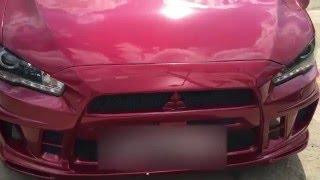 Сложный кузовной ремонт Mitsubishi Lancer 10