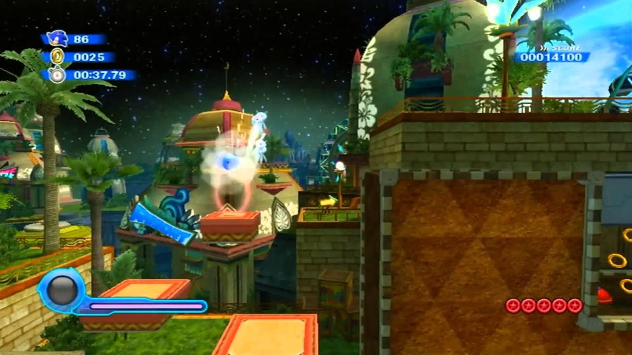 Wii Tropical Act Colors 1 Resort Sonic
