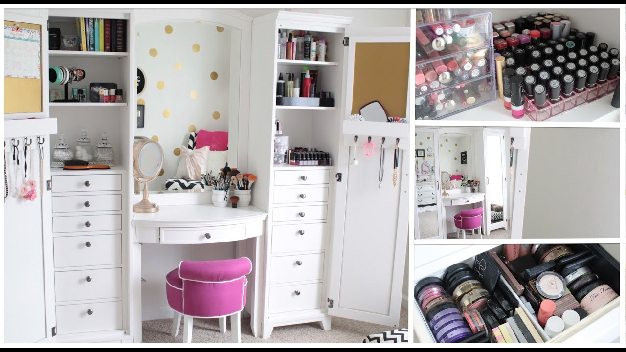 Collection organisation de mon maquillage youtube for Miroir youtubeuse