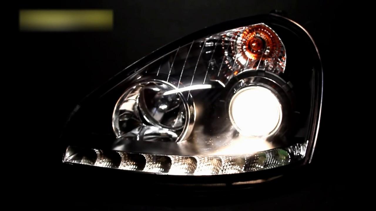 Фары для Приоры. Ангельские глазки для Приоры. Оптика Laser Lights .