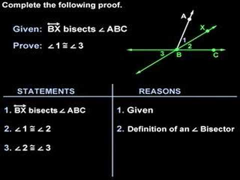 Geometry Proofs - Two Column Proofs - MathHelp.com - YouTube