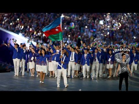 Церемония открытия Европейских игр в Баку