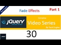 jquery tutorial series (Hindi) -  30 (part1) How to use Fade Effects ?