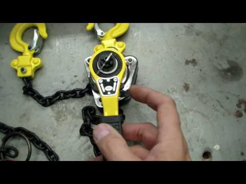 Harbor Freight Lever Chain Hoist Review
