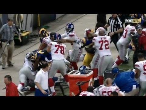 Rams-Giants Fight After Late Hit On Odell Beckham, Cody Davis Gets Kicked in Face