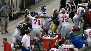 Rams-Giants Fight After Late Hit On Odell Beckham, Cody Davis Gets Kicked in Face thumbnail