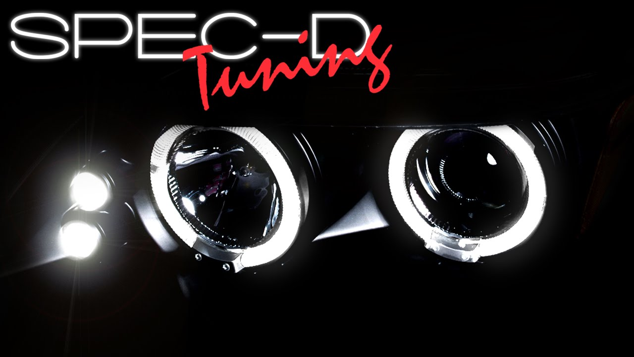 Scion Tc Halo Headlights >> SPECDTUNING DEMO VIDEO: 2005-2007 SCION TC LED HALO PROJECTOR HEADLIGHTS - YouTube