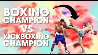Boxing Champion vs. Kickboxing & Muay Thai Champion | Lawrence Kenshin