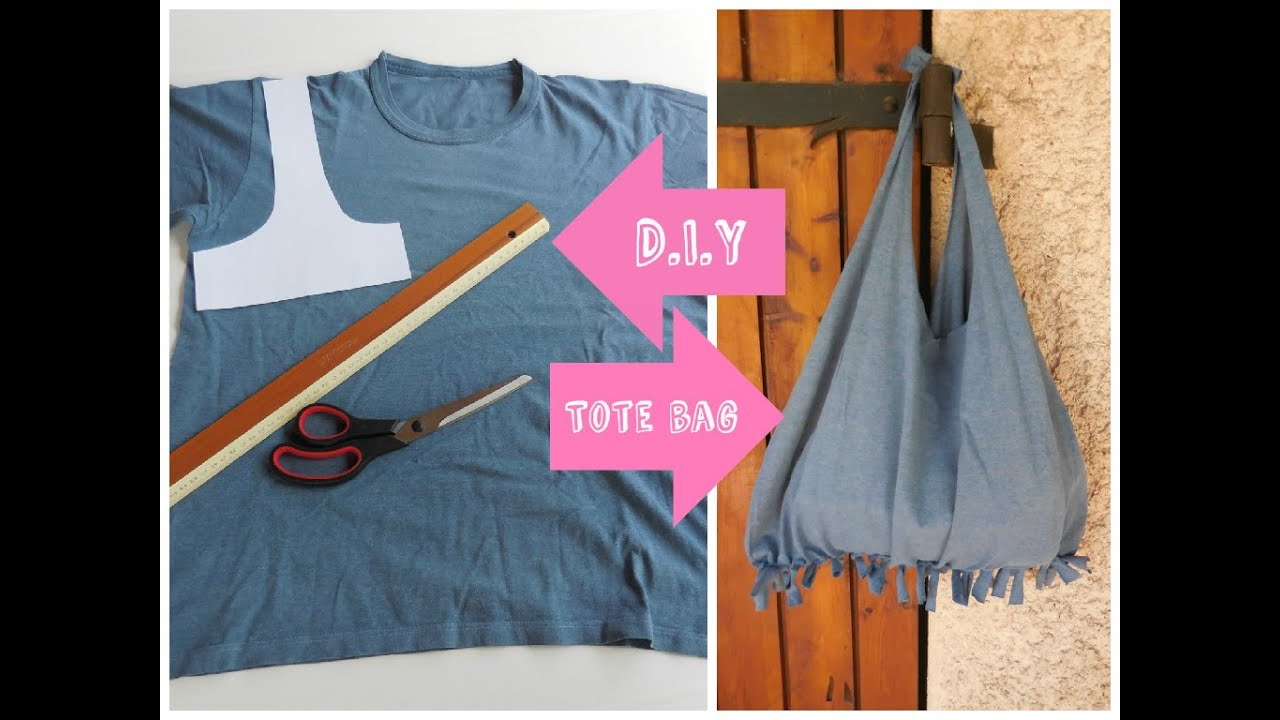 Recycle un T-shirt en tote bag / T-shirt bag DIY - no sew ...