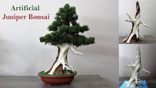 How to make an Artificial Juniper Bonsai Tree.