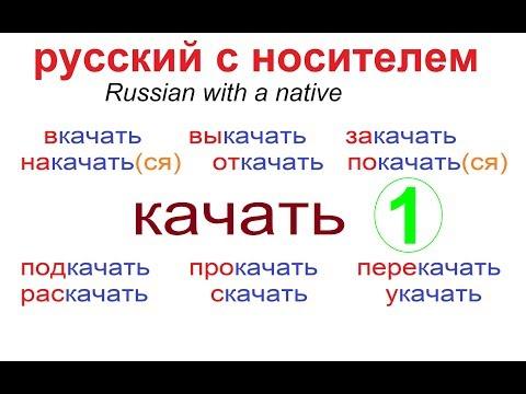 № 511 Глаголы с приставками : КАЧАТЬ / русский язык