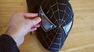 Spider-Man Black Suit Mask with Larger Magnetic Eyes