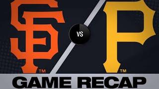 Pirates get rain-shortened win over Giants - 4/20/19