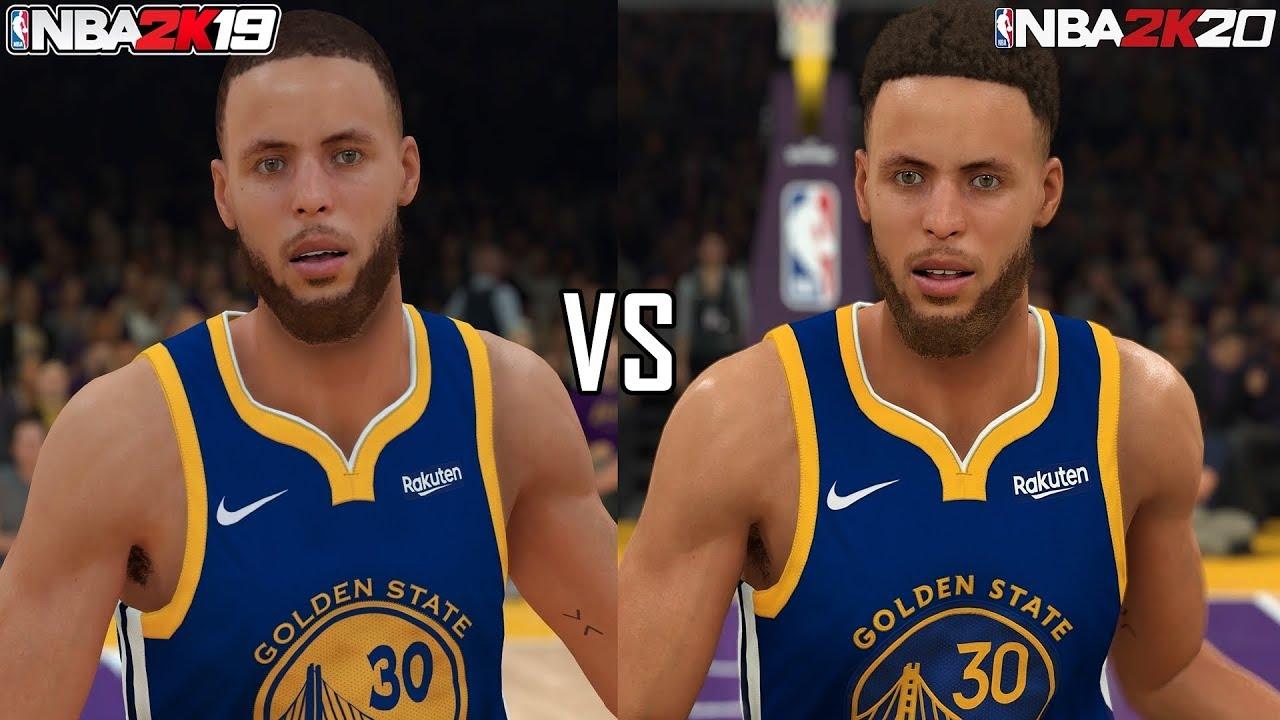 NBA 2K20 vs NBA 2K19 graphics comparison on PS4 Pro