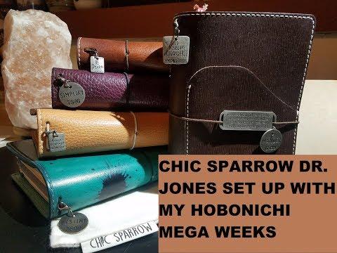 Chic Sparrow Dr. Jones B6Slim set-up with my Hobonichi Mega Weeks