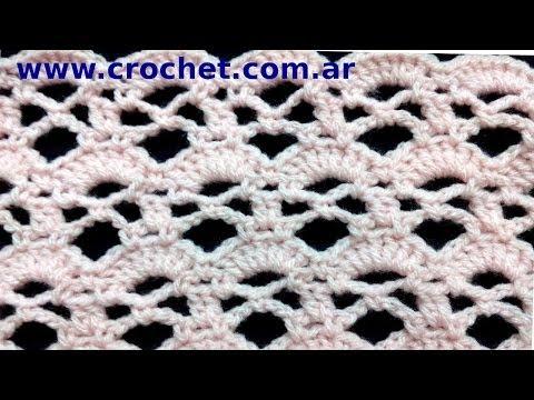 PUNTO fantasía Nº 70 en tejido #crochet o ganchillo tutorial paso a paso. Moda a Crochret