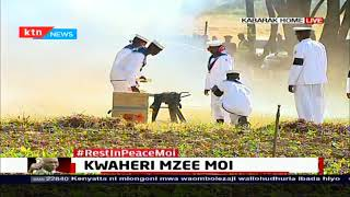 Former President Moi accorded a 19 gun salute at burial ceremony