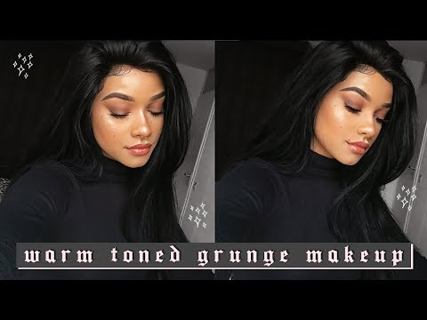 Warm Toned Grunge Makeup & Beauty Forever Hair