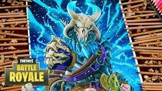 Drawing Fortnite Battle Royale Ragnarok level 100 Full Max UPGRADED LEGENDARY SKIN Dibujos fortnite