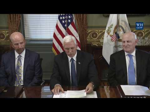 Vice President Pence Participates in a Listening Session with the Philanthropy Roundtable