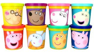 Colors for Kids with Peppa Pig and Friends Play Doh Molds Peppa Pig Surprise Eggs and Toys