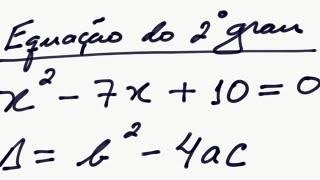 Fórmula de Bhaskara para solução de equação do 2º grau - exemplo- raizes da equação