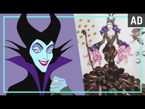 Maleficent Flower Fashion Illustration Disney Style