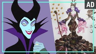 Maleficent Flower Fashion Illustration   Disney Style MyTub