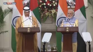 الشيخ محمد بن زايد في زيارة للهند لتعزيز العلاقات