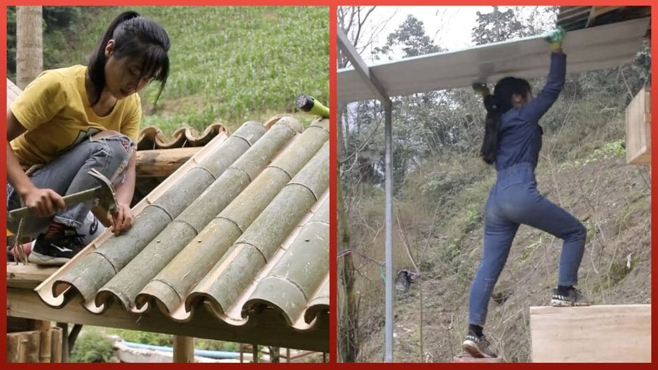 Skillful Woman Builds Off-Grid Cabin That is Self-Powered