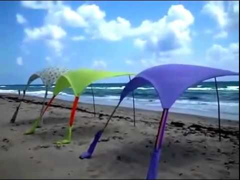 Beach Cabana Beach Umbrella Beach Tent - YouTube