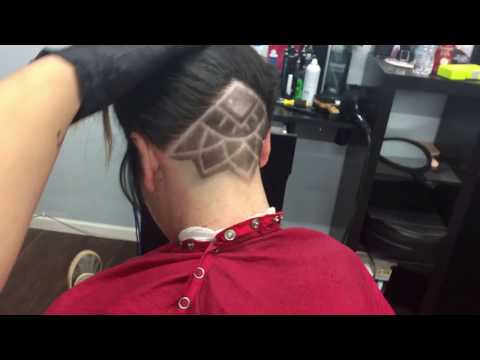 Undercut Design : Flower Illuminati Tribal Type Style with Shapu Blades