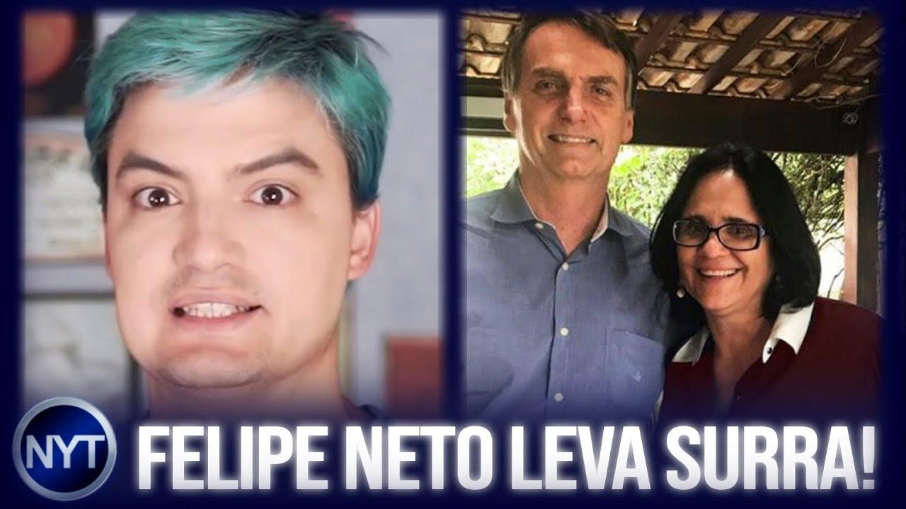 Felipe Neto leva uma SURRA de Ministra do BOLSONARO e dá seus pulos para tentar reverter a situação