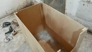 изготовление ящика или домика для поросят!
