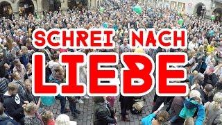 Schrei Nach Liebe Flashmob Aktion Arschloch - 12.09.15 Münster Prinzipalmarkt -