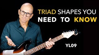 Triad Shapes You Need To Know - Minor, Major & Diminished - Lesson YL09