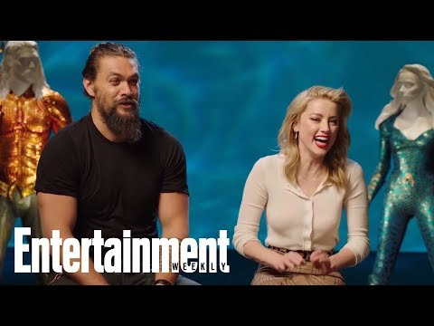 Jason Momoa Had To Drag Amber Heard Out Of The Water In This 'Aquaman' Scene | Entertainment Weekly