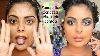 Camera Ready Foundation, Concealer, Contouring, Color Correction tutorial
