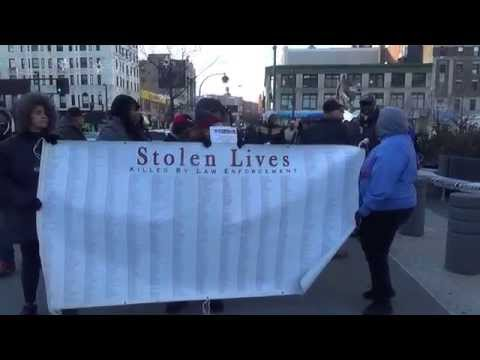 NO RESPECT: Killing of Michael Brown Protest Hits Harlem-NYC...--Republic Reporters