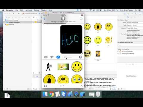 iMessage for ios 10 cool feature.  xcode  8: iMessage a cool feature. Create won sticker pack.