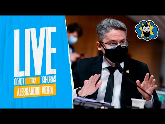 LIVE: Alessandro Vieira fala da CPI da Covid e de rachadinha - 19h   Galãs Feios