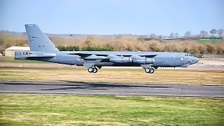 B-52 Bombers Takeoff At RAF Fairford (March 2019)