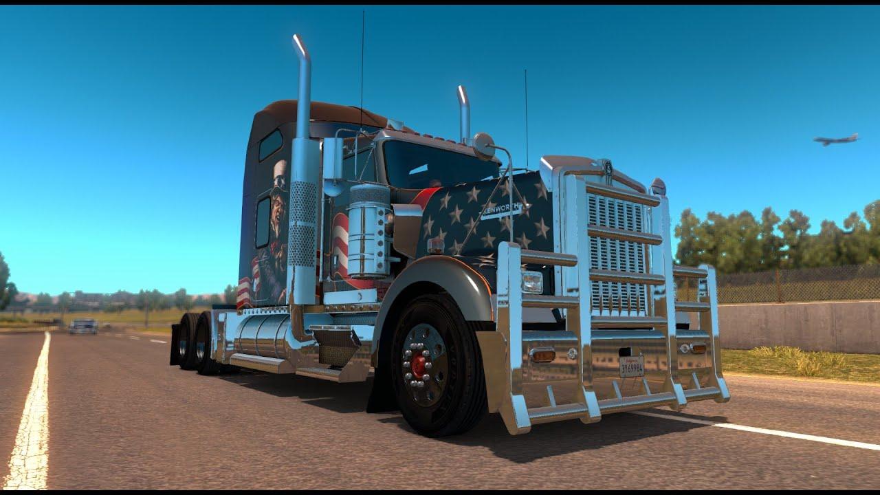 american truck simulator kenworth w900 free dlc youtube. Black Bedroom Furniture Sets. Home Design Ideas