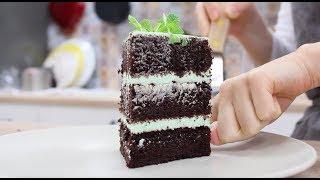 Бисквитный Торт МЕГА ШОКОЛАДНЫЙ и МЯТНЫЙ / Chocolate Mint Cake