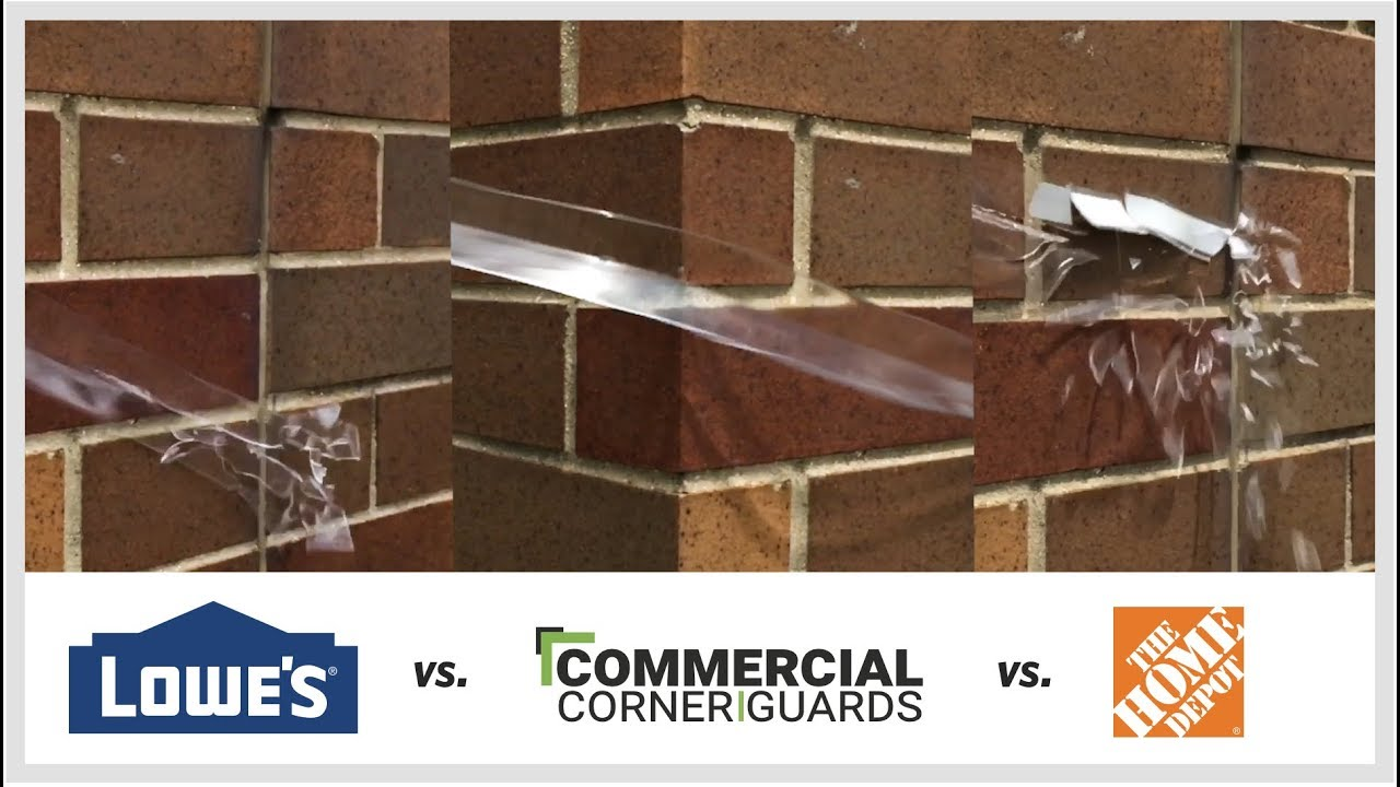 Corner Guards - Home Depot vs  Lowes vs Commercial Corner Guards