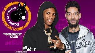 Lil B Gets Jumped By PnB Rock And A Boogie Wit Da Hoodie